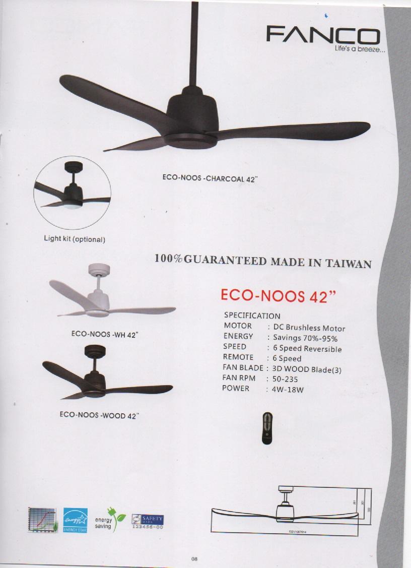 Fanco Eco Noos 42 Ceiling Fan